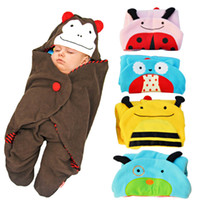 swaddle blankets - New Types Cartoon Doomagic Newborn Sleeping Bags Infant Blankets Fleece Baby Swaddle Cute Baby Pariscarc