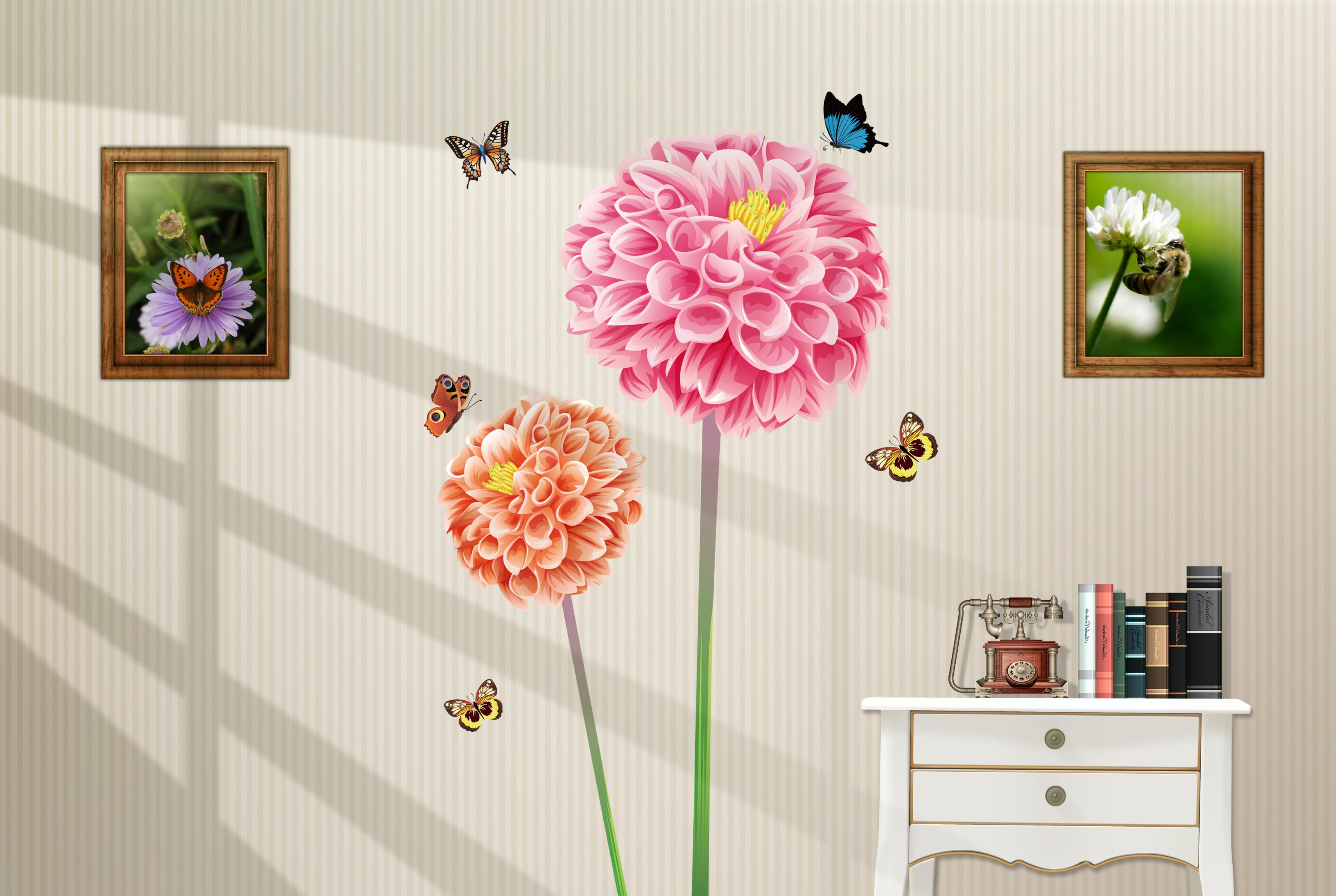 Wall Decor Stickers For Living Room Removable Flower Wall Stickers Decal Art Stickers For Home