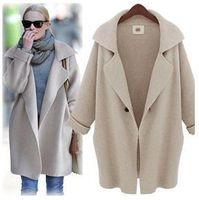 Wholesale 2014 Autumn Winter Women Sweater Cardigan Plus Size Coat Casual Knitted Long Sleeve Wool Knitwear Coats Outerwear