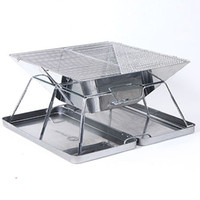 Wholesale OP Outdoor BBQ stainless steel grill portable grill field bbq box grill gazebo camping equipment barbecue