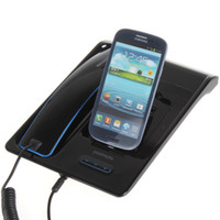 Wholesale Padmate Handheld Hands free Bluetooth Desktop Telephone Dock Station Cradle Phone Charger with Handset for Samsung Mobile Phone