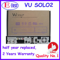 Cheap Vu Solo 2 HD Satellite tv Receiver VU SOLO2 decoder Linux OS Twin Tuner DVB-S2 tuner With 1300 MHz CPU DHL Free Shipping