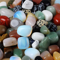 Wholesale Assorted Tumbled Stone Crystal agate aventurine obsidian jade jasper Healing Reiki Chakra Polished Free pouch TB001