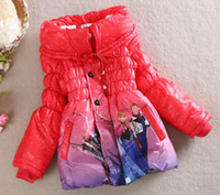 Wholesale autumn Frozen baby clothes long mode girl dress boys girls coat jacket wrap cotton padded clothes winter Down jacket Thickening jirong
