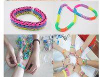 Cheap 2014 HOT Rainbow Loom Charms kit Magical Colorful Loom charm Jelly bracelet (1 Loom 1 Hook 600 Bands 24 Clips 6 Charms 1 Box)