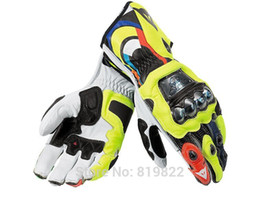 Wholesale 2015 Top Motorcycle dennis titanium alloy MOTO GP racing gloves Cycling MTB DH ATV Off road VR46 leather gloves