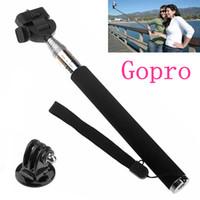 Wholesale Gopro Accessories Extendable Handheld Telescopic Monopod Holder Wand Tripod for Sport Camera Gopro Hero3
