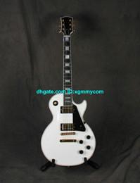 Wholesale Deluxe Alpine White Custom Electric Guitar ebony Mahogany Body fret binding New Arrival