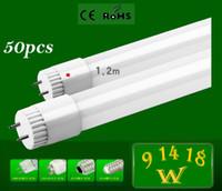 Cheap 50pcs High Brightness SMD 2835 253 leds 18W 1.2m LED tube light fluorescent lamp T8 G13 85-265V 1800lm 4 feet ft tubes