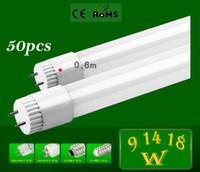 Cheap DHL Free High Brightness 600mm SMD 2835 CREE LED tube light fluorescent lamp T8 G13 85-265V 1000lm 10W 2 feet ft tubesCE & ROHS 50pcs