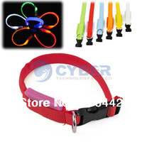 Wholesale LED Dog Collar Night Safety Flashing Light Pet Collar Adjustable Cat Collar Colors B16