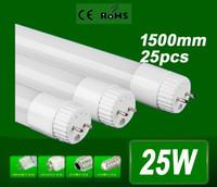 T8 25W SMD 3528 X25 High Brightness SMD 2835 25W 1.5m LED tube light fluorescent lamp T8 G13 85-265V 2400lm 5 feet ft tubes