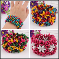 Cheap 2014 Bohemian colored wooden bangle bracelet retro temperament Taobao stall selling jewelry wholesale