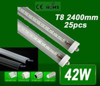 Cheap X25 High Brightness 2400mm 192 LED Tube light FA8 single pin T8 SMD 2835 LED fluorescent tube light lamp 8ft 4000LM