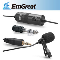Wholesale HOT BOYA BY M1 Lavalier Microphone For Iphone Samsung DSLR Cameras Camcorders Broadcasting Recording P0015231