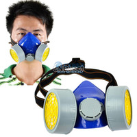 Cheap Cheap Double Gas Mask Protection Filter Chemical Gas Respirator Face Mask Dropshipping TK0858