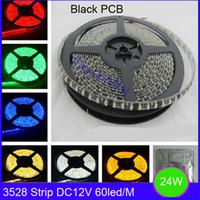 Wholesale SMD led strip black pcb DC12V m led high brightness flexible led bar light waterproof IP65