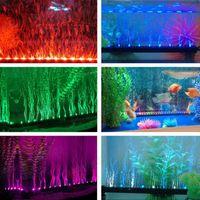 Wholesale Colourful CM Aquarium Fish Tank Beaming Underwater Submersible Air Bubble Safe LED Lights Colors