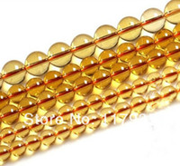 "Cheap Wholesale100% Natural AAA orange brasilian citrine crystal quartz round glossy loose beads 15"" strand lot 6-14mm jewelry making"