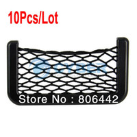 Wholesale 10Pcs Automotive Mobile Phone Net Bag with Adhesive Visor Car Organizer Pockets Net