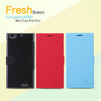 Cheap For Lenovo K900 NILLKIN Lenovo Serise PU Leather Phone Bag Case For Lenovo K900 Book Style Retail Package