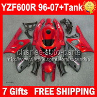 Wholesale 7gifts Tank For YAMAHA Thundercat S210 Red Flat black YZF R Red black YZF600R YZF600 R Fairing