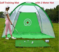 Wholesale 2014 New outdoor Golf Training Aid Golf Training Cages Golf Training Net with Free cm Golf Chipping Driving Practice Mat DHL