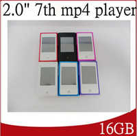 Wholesale 16GB th Mp4 Player with inch LCD tocuh Screen FM Radio Games Gravity induction With Retail package