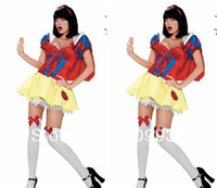 Wholesale mascot New arrive snow white women sexy queen costumes halloween apparel women party dress pSN