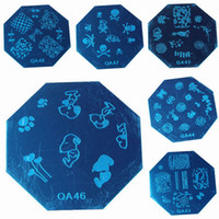 Cheap New Fashion Women Manicure Template Nail Art Kits Image Stamp Octagon Stainless Steel Plates Style Choose QA*5