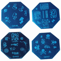 Cheap Hot Sale Women Manicure Template Nail Art Kits Image Stamp Octagon Stainless Steel Plates Style Choose QA*10