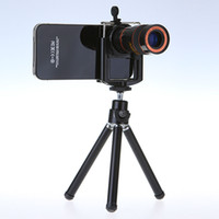 Cheap 8X Zoom Universal Telescope Long Focal Camera Lens for iPhone Mobile Phone with Mini Tripod Holder Free Shipping Drop Shipping