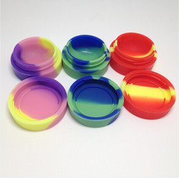 Wholesale Cheap Jars Containers - New arrival hot sale large colorful silicone container for wax vaporizer 5-7ml capacity wax silicone jars cheap wax silicone container 2