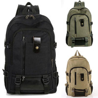 Wholesale Fashion Men Women Vintage Canvas Backpack Rucksack School Satchel Hiking Bag DH04