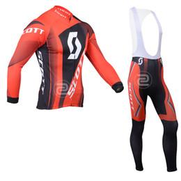 Wholesale Pro team cycling jersey SCOTT cycling bib jersey long sleeve cycling jerseys high quality bicycle clothing