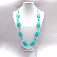 Wholesale OP x TEETHer necklaces mum Beads Silicone pendant teething Baby necklace chew jewellery