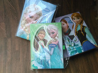 Wholesale Frozen Diary Book With lock Book Student Block Diary Notebook Frozen Princess Elsa Anna Book cm IN STOCK