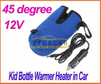 Wholesale 3x Universal Safe Travel Bottle Warmer Heater For Baby Kid in Car With Car Cigarette Lighter Cable Blue