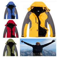 Unisex pizex - 3 in men s Autumn Windbreaker Outdoor Double Layer Waterproof Windproof Mountain Skiing Jacket Climbing men Jacket PIZEX