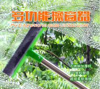 Wholesale Stainless steel detachable handle double sided glass cleaner window brush brush glass glass blowing mop