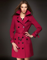 Fashion Style 2014 Women double- breasted Trench Coats Street...