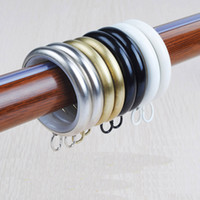 Wholesale Window Curtain accessories hanging rings plated metal surface for Roman rods