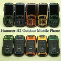 Wholesale Hummer H2 Waterproof Cell Phone Dual SIM Dual Card GSM Outdoor Phone IP67 Dustproof Shockproof Mobile Phone with Keypad