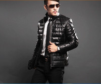 100% leather jackets - 2014 High quality Outerwear Coats men Genuine leather jacket Down jacket