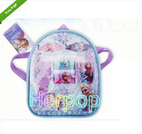 Wholesale Hot Sale SET backpack frozen Pattern Pattern Party Dress comb hairpin Hair Accessories Gift box