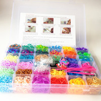 Cheap 36 colors all kinds of Loom bands kit 3600 pc &100 S Clips & 4 hook & charms best gift for kids best price free shipping