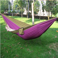 Wholesale Big discount camping Mixed color safe Outdoor Parachute X cm g Double Person Hammock Can Allowable KGS