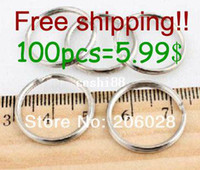 Wholesale 5 Dia MM Metal Keyring Nickle Plated Split Key Rings Findings Round Keychain Key Rings Fit Key Chain Little Size