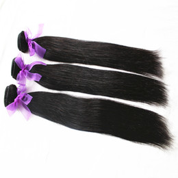 100% 8A Cuticle Indian Hair Weave Natural Black 3Pcs lot Unprocessed Silky Straight Hair Bundles Human Hair Extensions