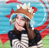 Wholesale NEW Fashion hats Soft high quality Plush LOL Rammus Cosplay Hat Game LOL COSPLAYGift for children